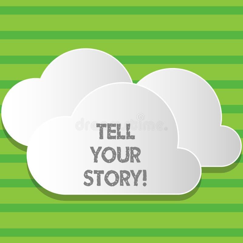 Pisać nutowym seansie Mówi Twój opowieść Biznesowa fotografia pokazujący wyrażający twój uczucia Opowiadający pisać twój ilustracja wektor