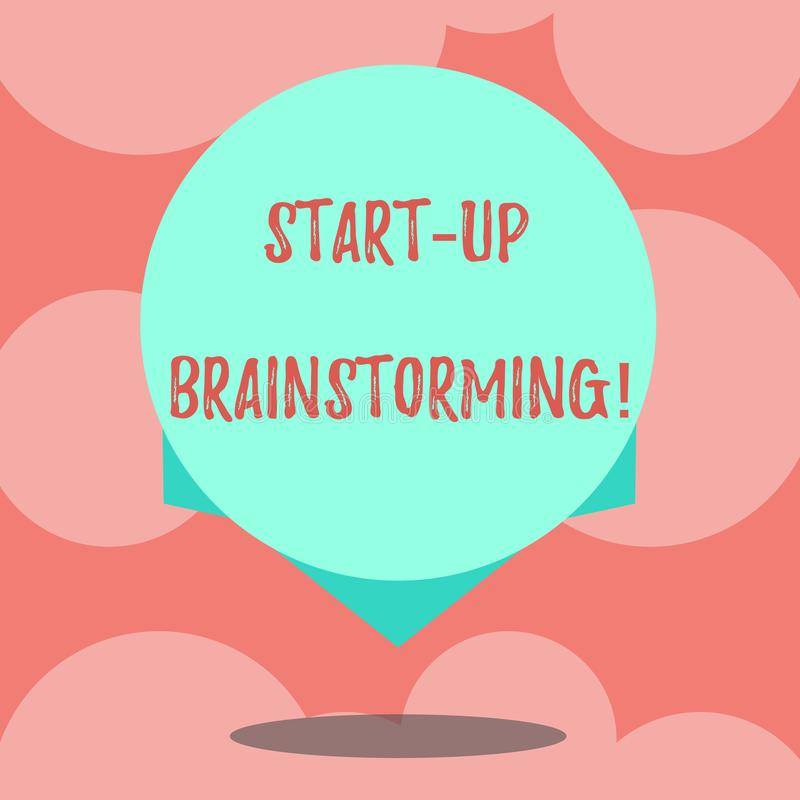 Pisać nutowym seansie Zaczyna W górę Brainstorming Biznesowa fotografia pokazuje Drużynową pracę dla robić strategii nowy bizneso ilustracja wektor