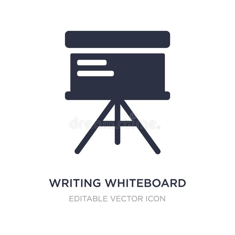 pisać whiteboard ikonie na białym tle Prosta element ilustracja od edukacji pojęcia ilustracji