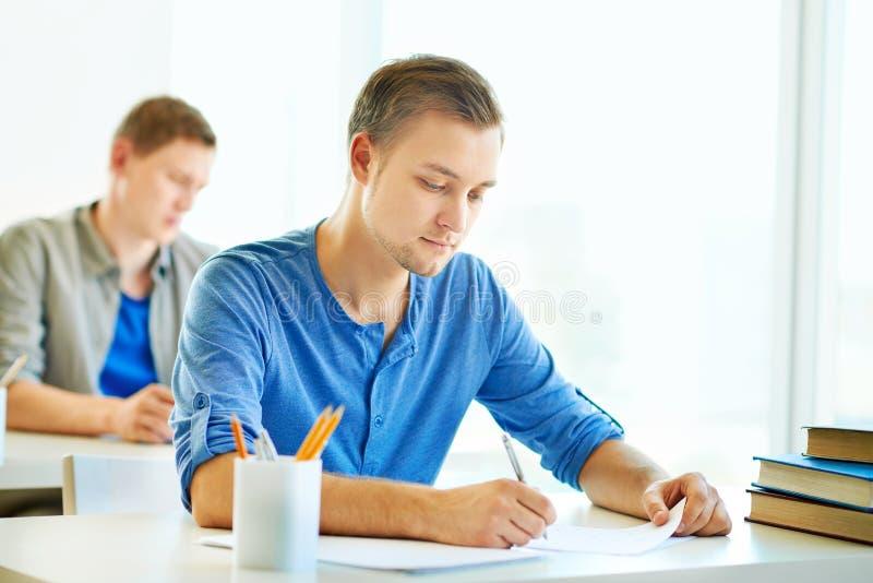 Pisać egzamin zdjęcia stock