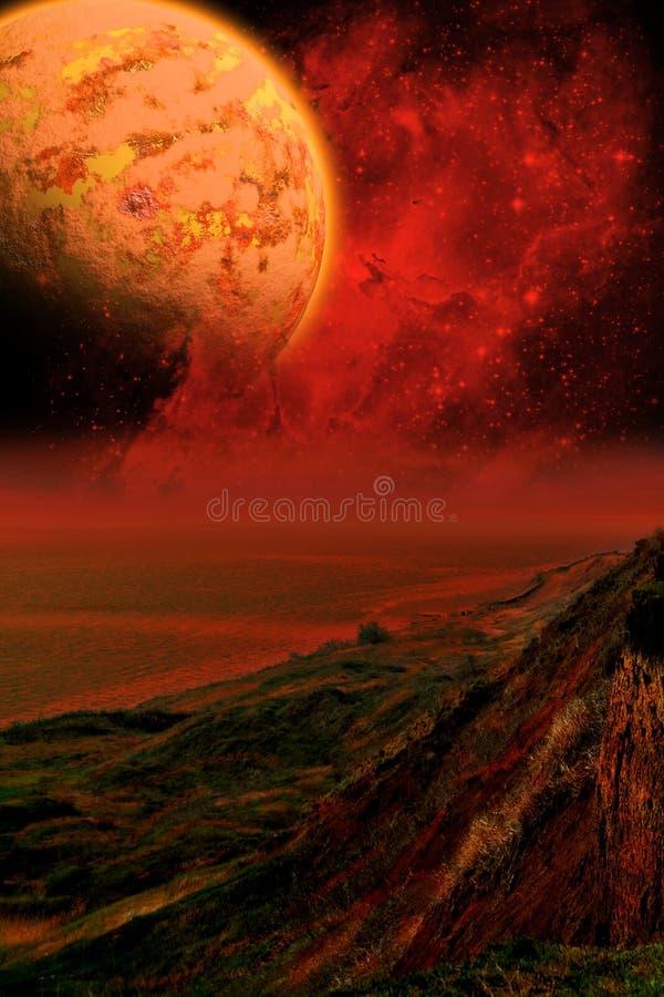 pisać kronikę Martian royalty ilustracja