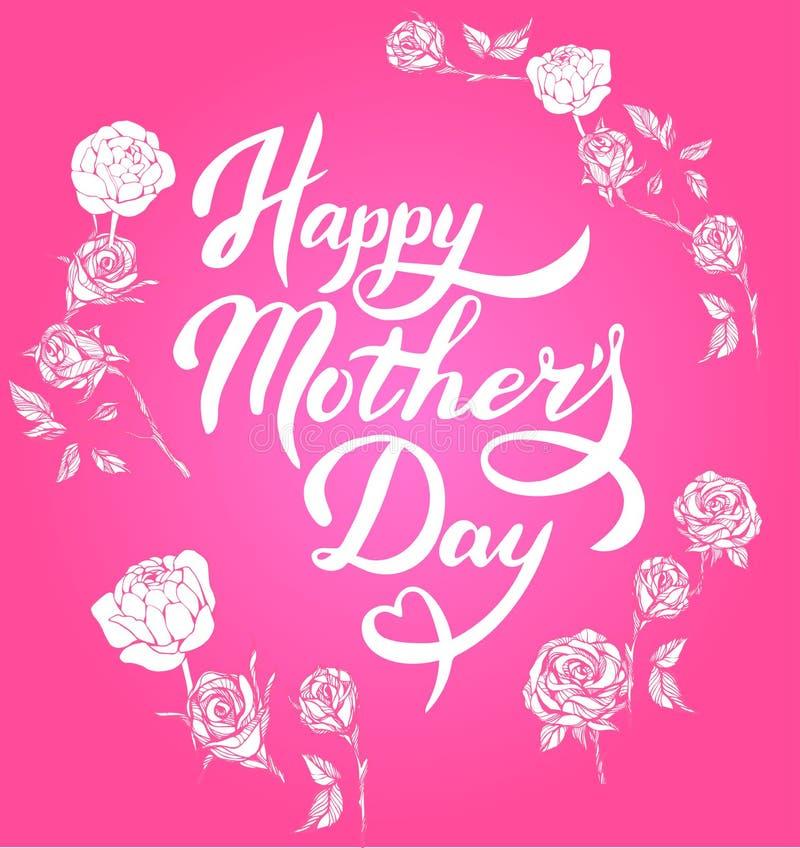 Pisać list Szczęśliwego matka dzień royalty ilustracja