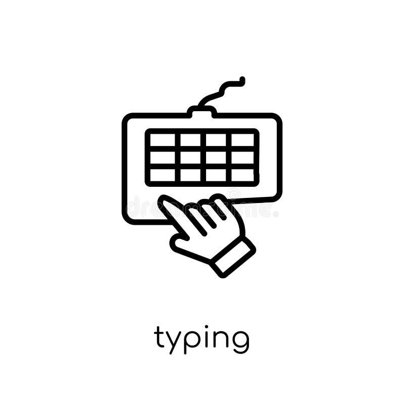 Pisać na maszynie ikona od kolekcji ilustracji