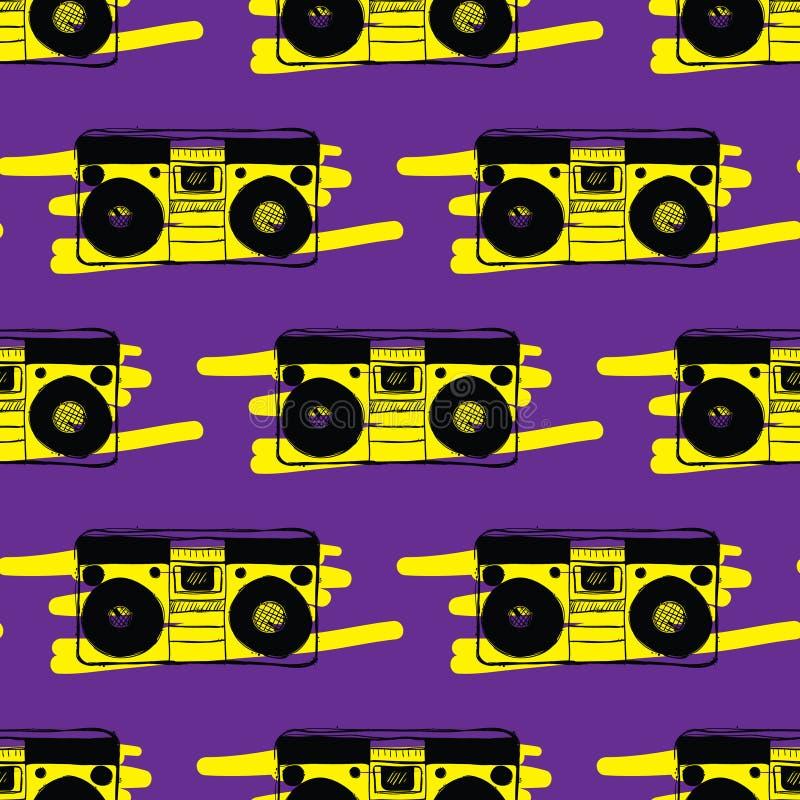 Pisać na maszynie pisakowi bezszwowego wzór fotografia stock