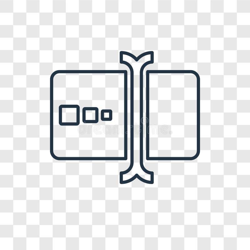 Pisać na maszynie pojęcie wektorowa liniowa ikona odizolowywająca na przejrzystym backgr ilustracja wektor