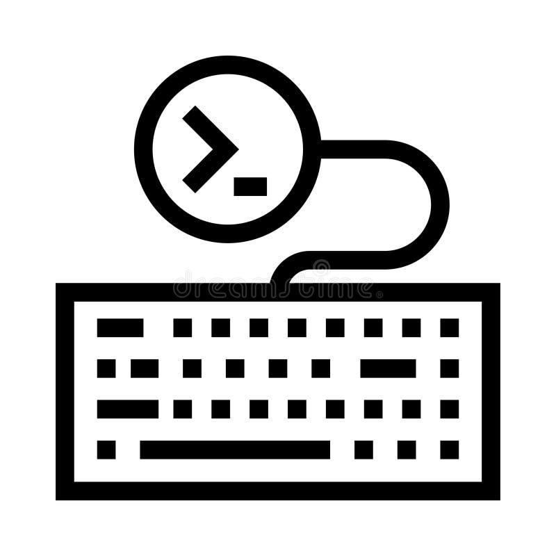 Pisać na maszynie wektor kreskowa ikona ilustracji