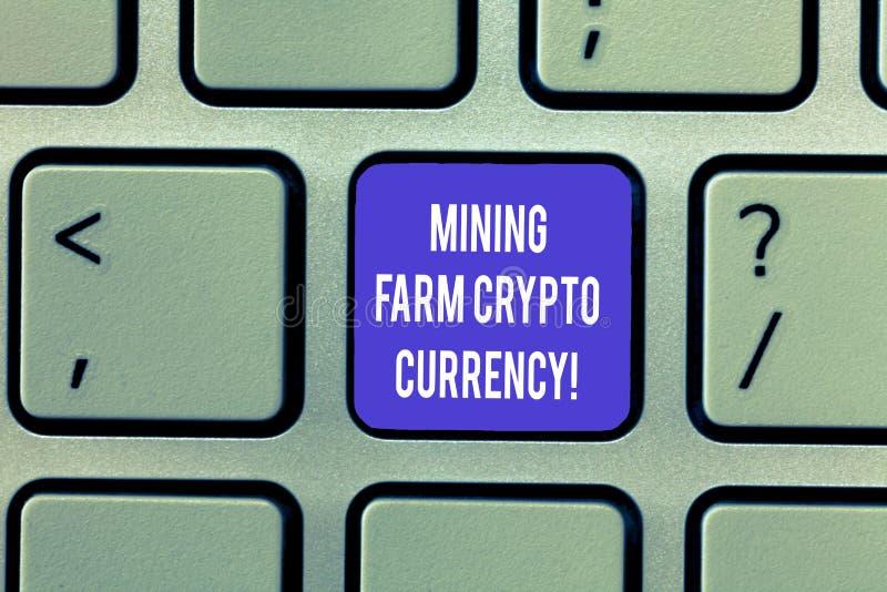 Pisać nutowej pokazuje Górniczej Rolnej Crypto walucie Biznesowa fotografia pokazuje Blokowego łańcuch handluje cyfrowego pieniąd zdjęcia royalty free