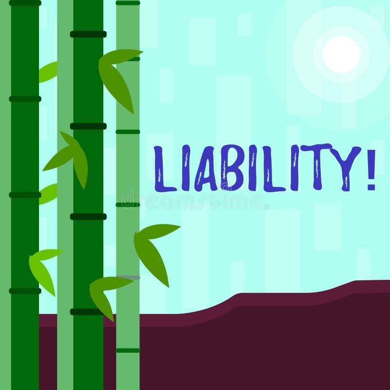 Pisać nutowej pokazuje odpowiedzialności Biznesowa fotografia pokazuje stan być legalnie odpowiedzialny dla coś royalty ilustracja