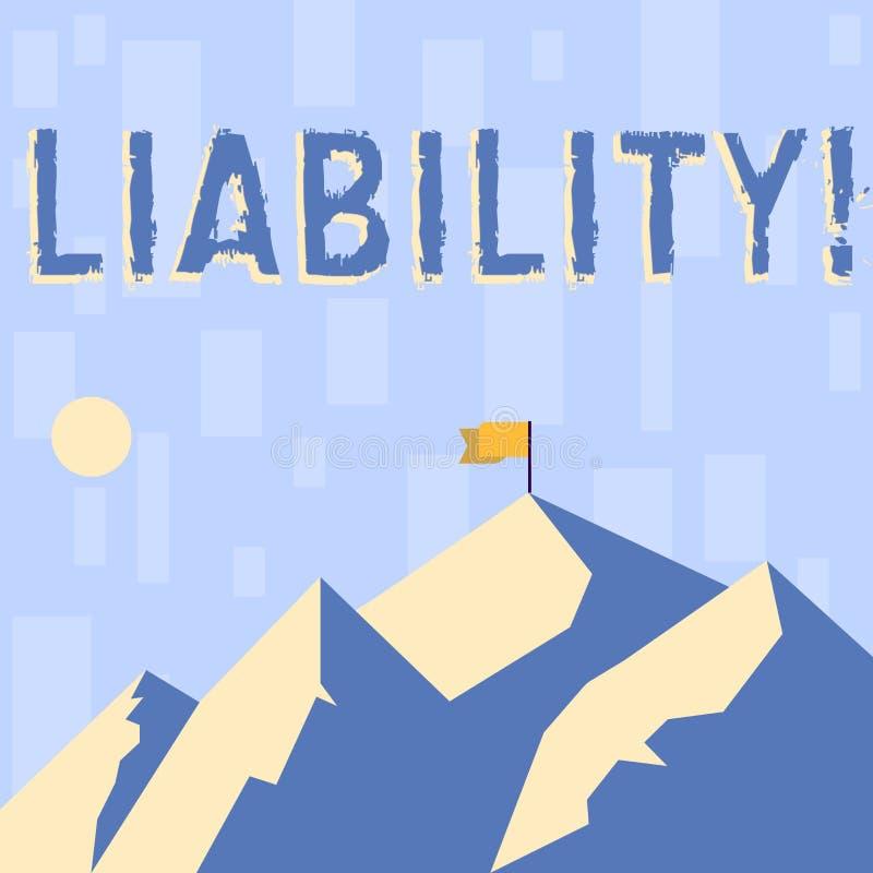 Pisać nutowej pokazuje odpowiedzialności Biznesowa fotografia pokazuje stan być legalnie odpowiedzialny dla coś ilustracja wektor