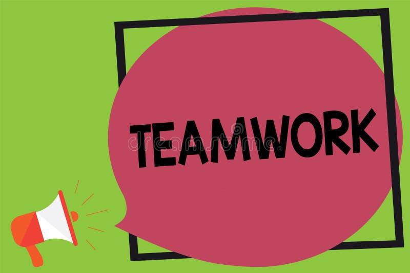Pisać nutowej pokazuje pracie zespołowej Biznesowa fotografia pokazuje grupy ludzi który pracuje wpólnie jako jeden i z ten sam c ilustracji