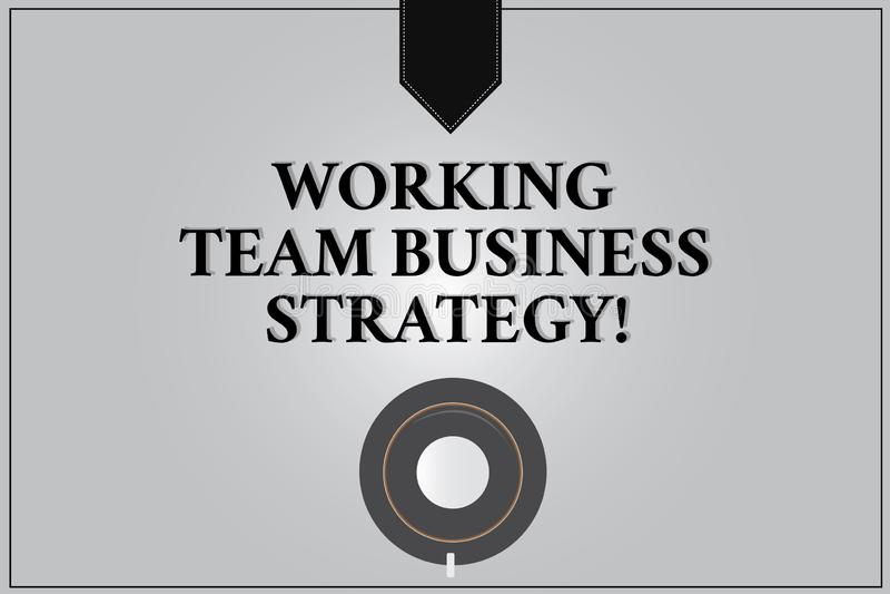 Pisać nutowej pokazuje Pracującej Drużynowej strategii biznesowej Biznesowa fotografia pokazuje firmy brainstorming pomysły dla ilustracji