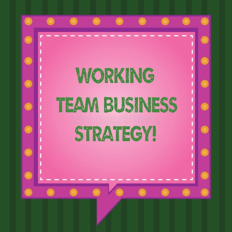 Pisać nutowej pokazuje Pracującej Drużynowej strategii biznesowej Biznesowa fotografia pokazuje firmy brainstorming pomysły dla ilustracja wektor