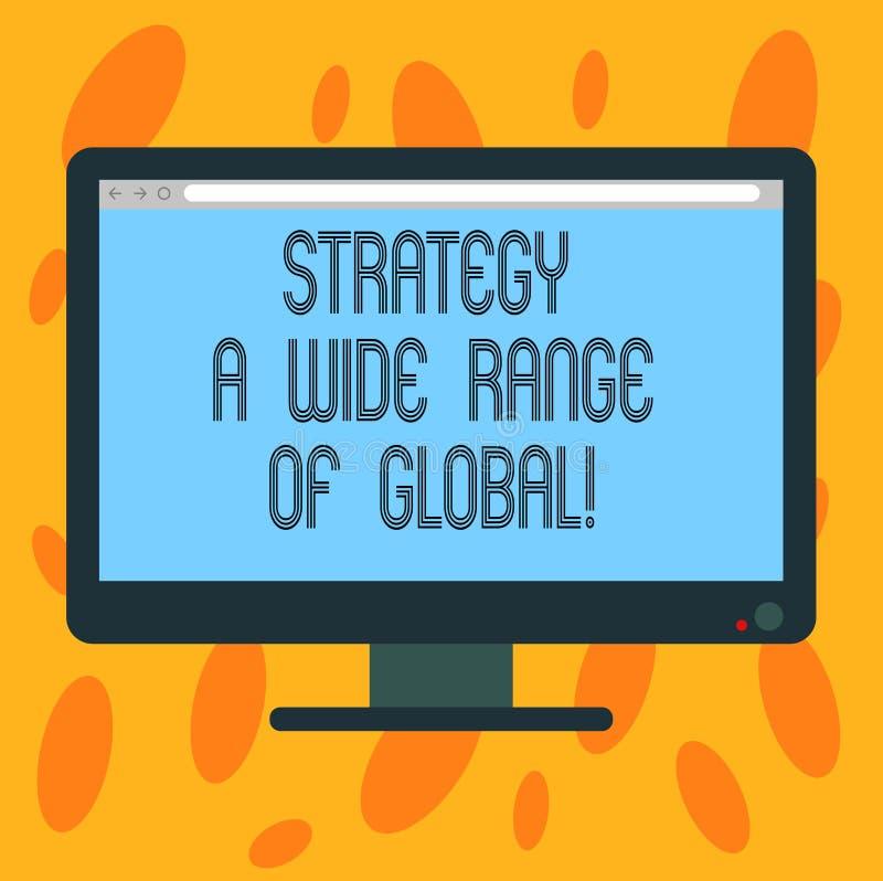 Pisać nutowej pokazuje strategii szerokim zakresie Globalny Biznesowa fotografia pokazuje Na całym świecie teletechnicznego strat royalty ilustracja