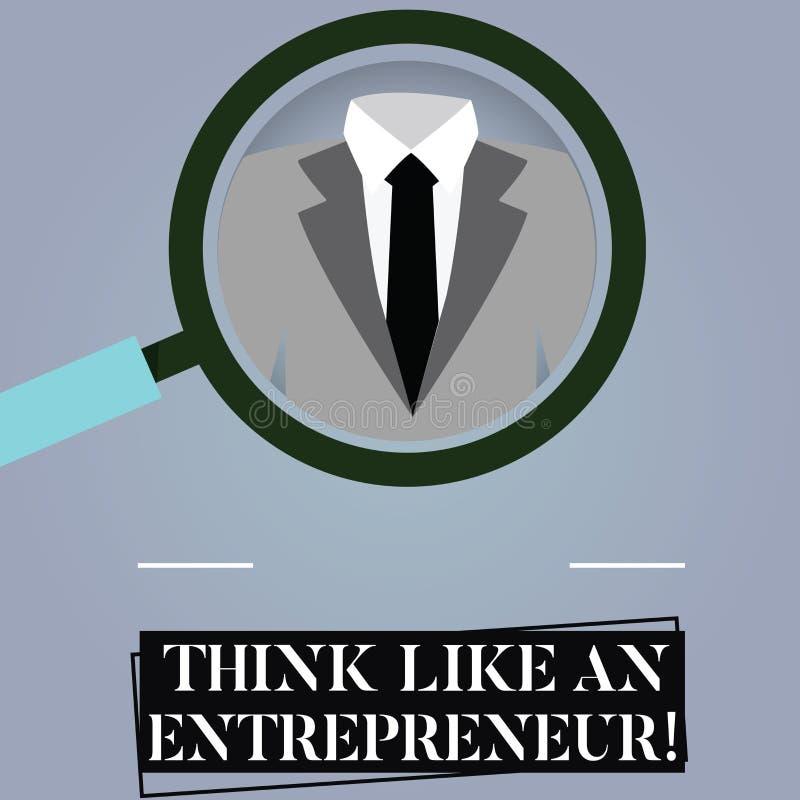 Pisać nutowej seans myśli Jak przedsiębiorca Biznesowy fotografii pokazywać przedsiębiorczość umysł Zaczynać w górę strategii ilustracja wektor