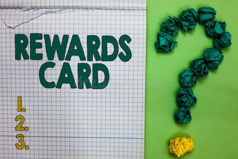 Pisać nutowej seans nagród karcie Biznesowa fotografia pokazuje pomoc zarabia gotówkowe punkt mily od codziennego zakupów bodzów  zdjęcia royalty free