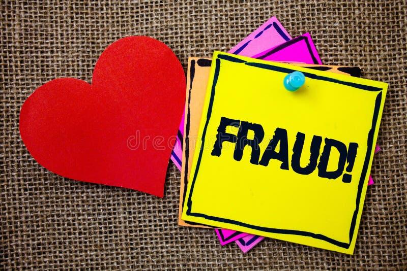 Pisać nutowemu pokazuje oszustwu Motywacyjnym wezwaniu Biznesowa fotografia pokazuje Kryminalnego łudzenie dostawać pieniężnym lu obraz stock