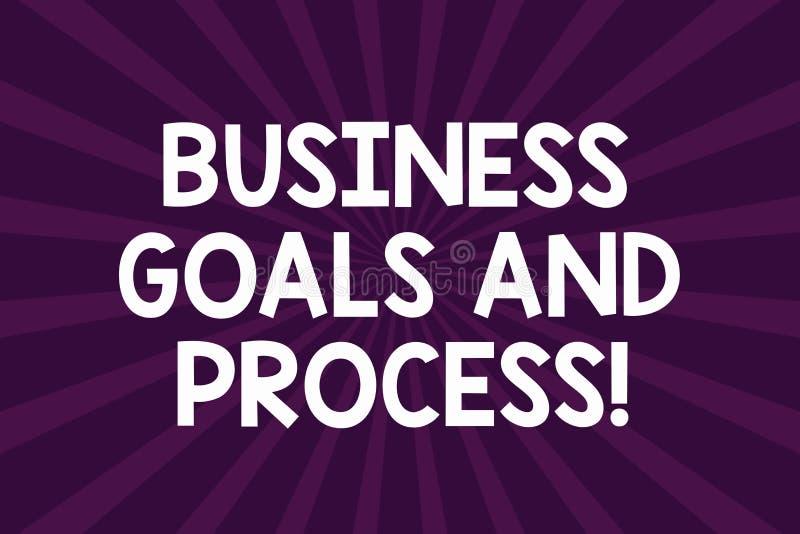 Pisać nutowemu seansowi Biznesowych celach I procesie Biznesowa fotografia pokazuje Pracujące strategie osiąga cele Przyrodnich ilustracji