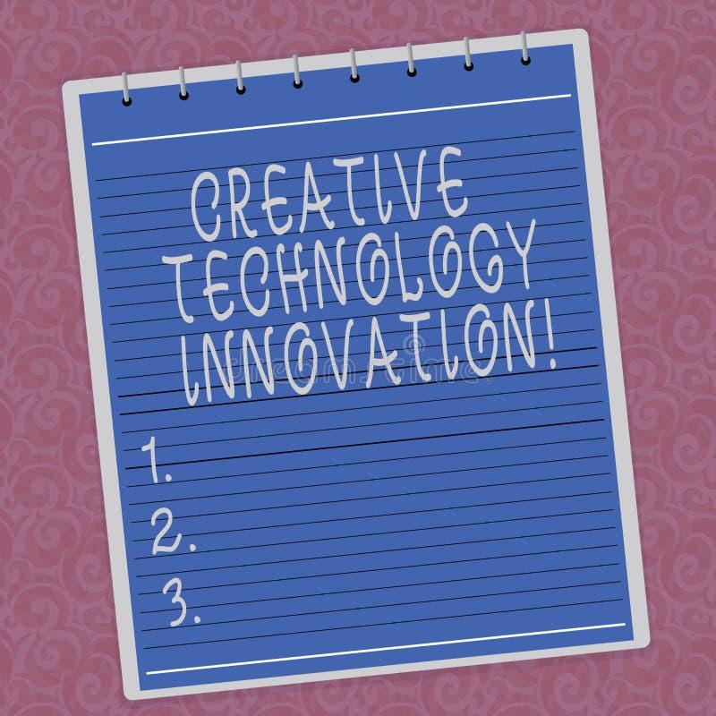 Pisać nutowemu seansowi Kreatywnie technologii innowacji Biznesowa fotografia pokazuje spuszczać ze smyczy umysł poczynać nowych  ilustracja wektor