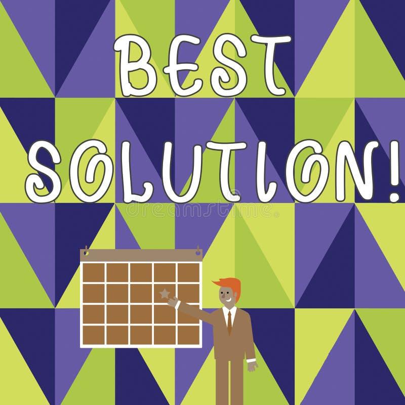 Pisać nutowemu seansowi Najlepszy rozwiązaniu Biznesowa fotografia pokazuje alternatywę lub podejście ten najlepszy napady prąd ilustracji