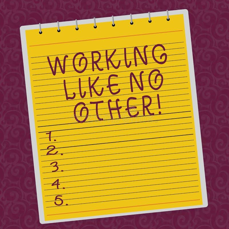 Pisać nutowy pokazuje Pracować Jak Nie Inny Biznesowa fotografia pokazuje ciężką pracę dokonywać twój demonstratingal cele ilustracji
