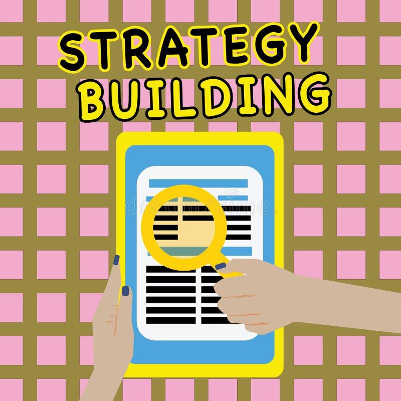Pisać nutowy pokazuje strategii Budować Biznesowa fotografia pokazuje Wspierający kupienie i nabywanie inny platformy royalty ilustracja