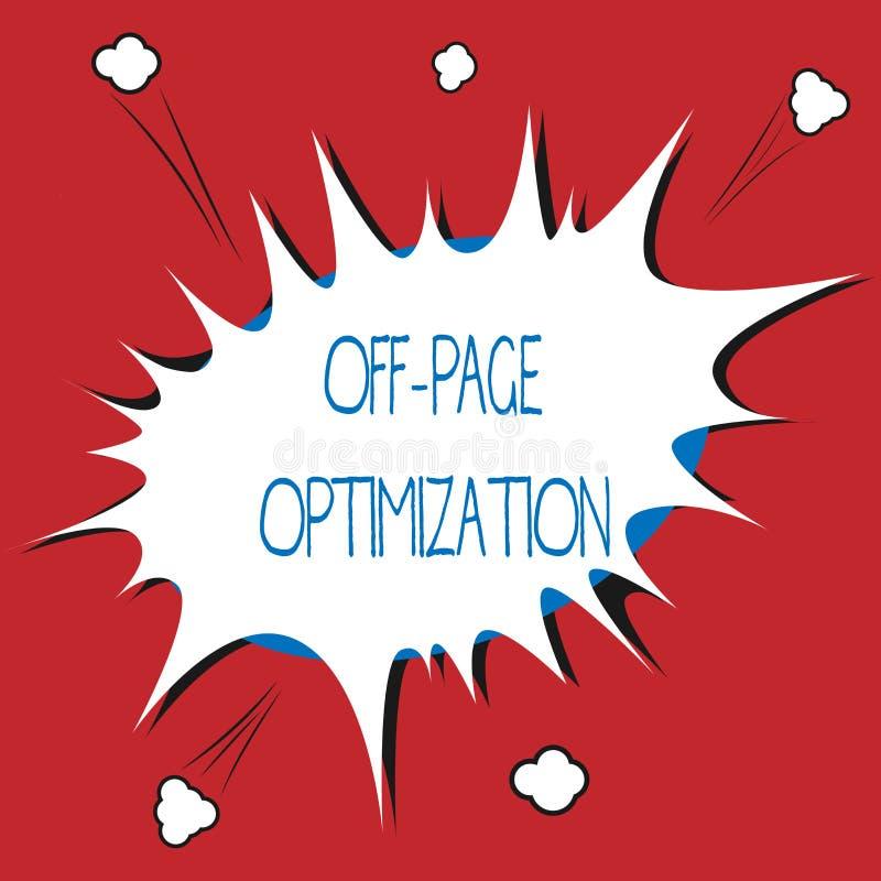 Pisać nutowy pokazywać Daleko strona optymalizacja Biznesowa fotografia pokazuje strony internetowej External procesu Promocyjną  ilustracji