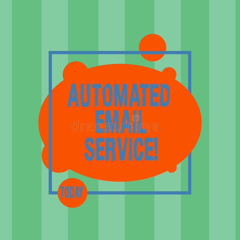 Pisać nutowy seans Automatyzującej poczty elektronicznej Biznesowa fotografia pokazuje automatyczny podejmowanie decyzji opierają ilustracji
