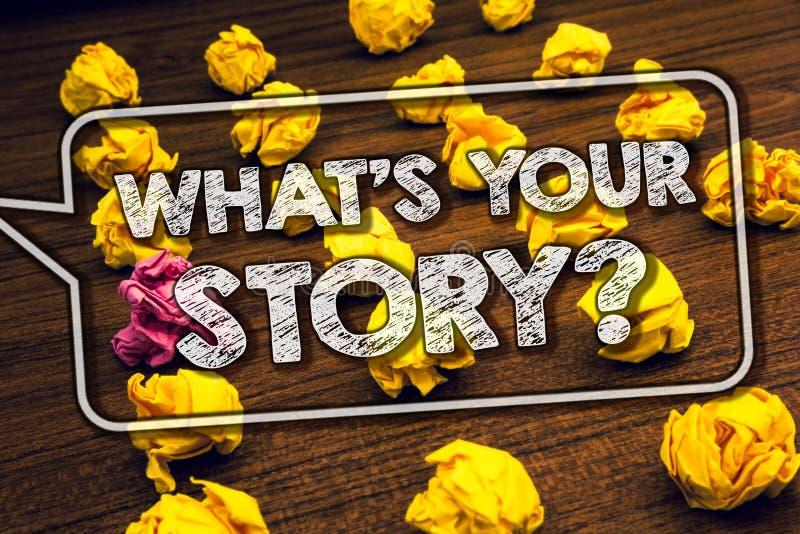 Pisać nutowy seansu Czemu 'S Twój opowieści pytaniu Biznesowy fotografii pokazywać Łączy Komunikuje łączliwość związek Cembrujące zdjęcie stock