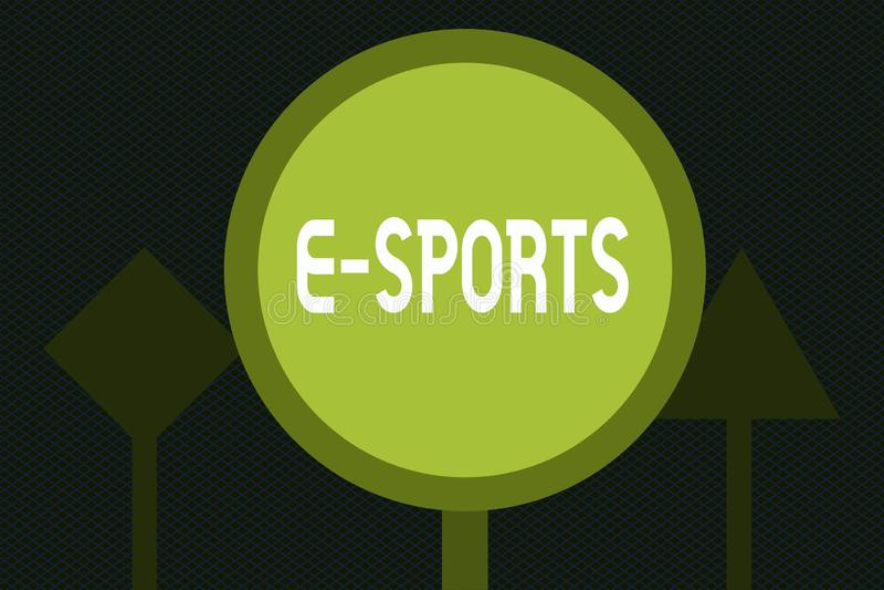 Pisać nutowych pokazuje E sportach Biznesowa fotografia pokazuje dla wielu graczy gra wideo bawić się competitively dla widzów ilustracji