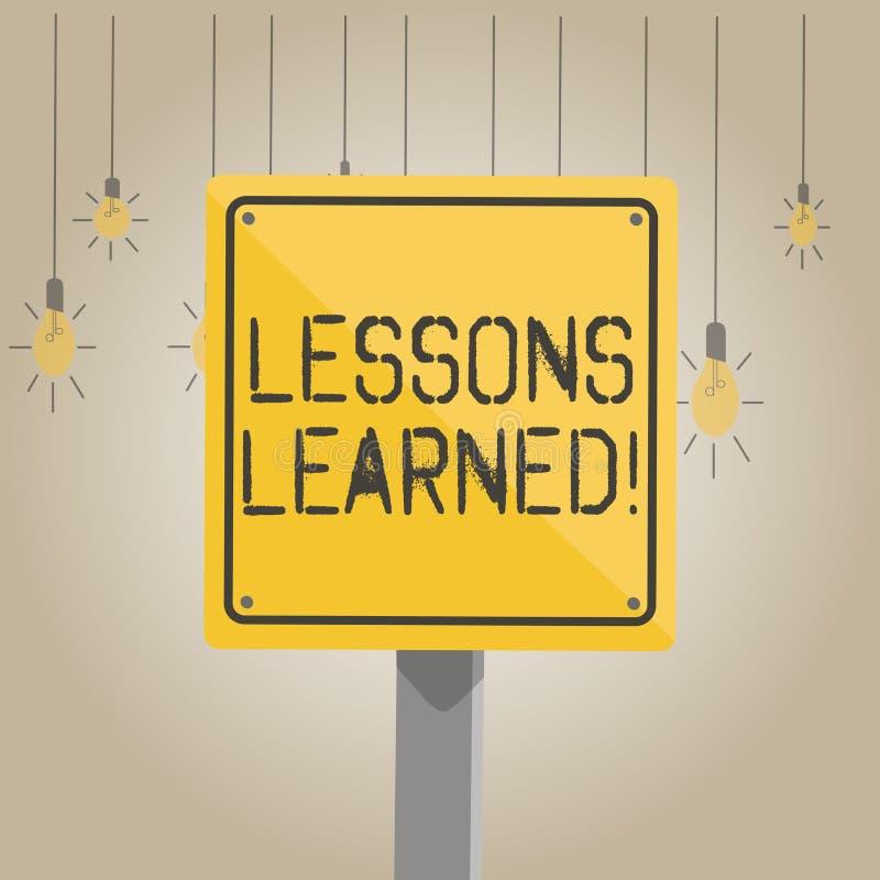 Pisać nutowych pokazuje lekcjach Uczył się Biznesowa fotografia pokazuje doświadczenia destylujących które muszą aktywnie biorą p ilustracja wektor