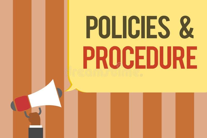 Pisać nutowych pokazuje polisach i procedurze Biznesowa fotografia pokazuje listę reguły definiuje klienta i nabywca wyprostowywa ilustracji