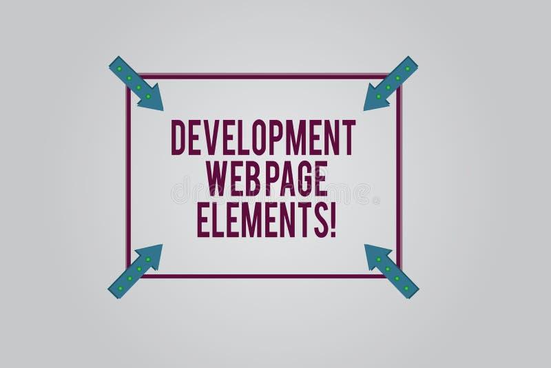 Pisać nutowych pokazuje rozwój strony internetowej elementach Biznesowa fotografia pokazuje strona internetowa projekt online jes ilustracji