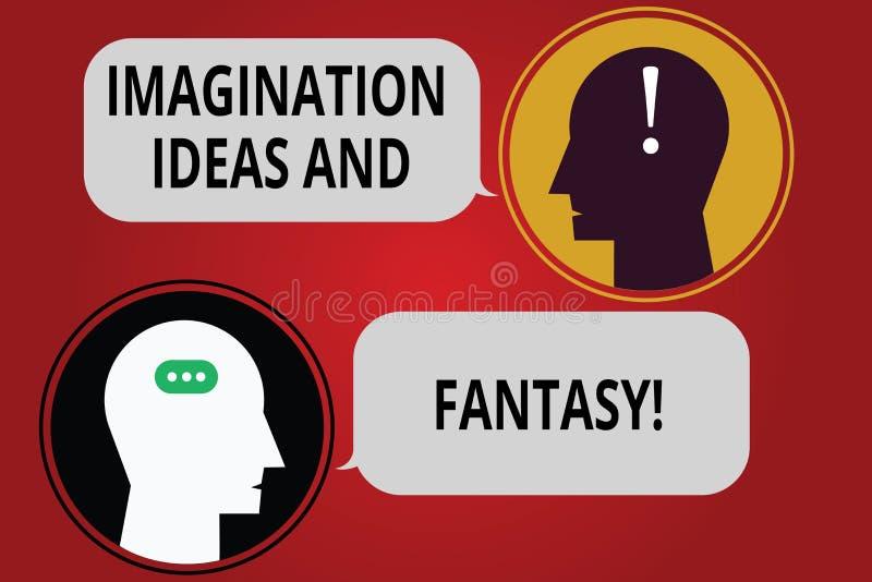 Pisać nutowych pokazuje wyobraźnia pomysłach, fantazji I Biznesowa fotografia pokazuje twórczości inspiracyjnego kreatywnie główk ilustracja wektor
