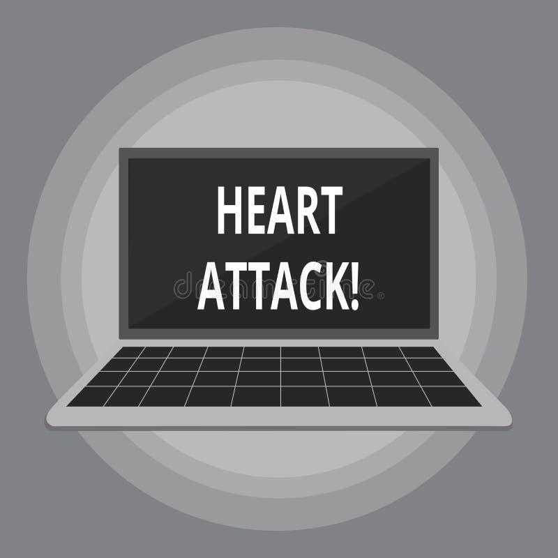 Pisać nutowym pokazuje atak serca Biznesowa fotografia pokazuje nagłego występowanie wieńcowy zakrzepica wynikający w śmierci ilustracji