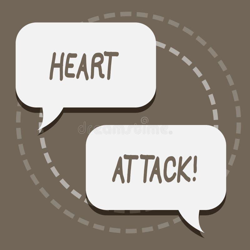 Pisać nutowym pokazuje atak serca Biznesowa fotografia pokazuje nagłego występowanie wieńcowy zakrzepica wynikający w śmierci ilustracja wektor
