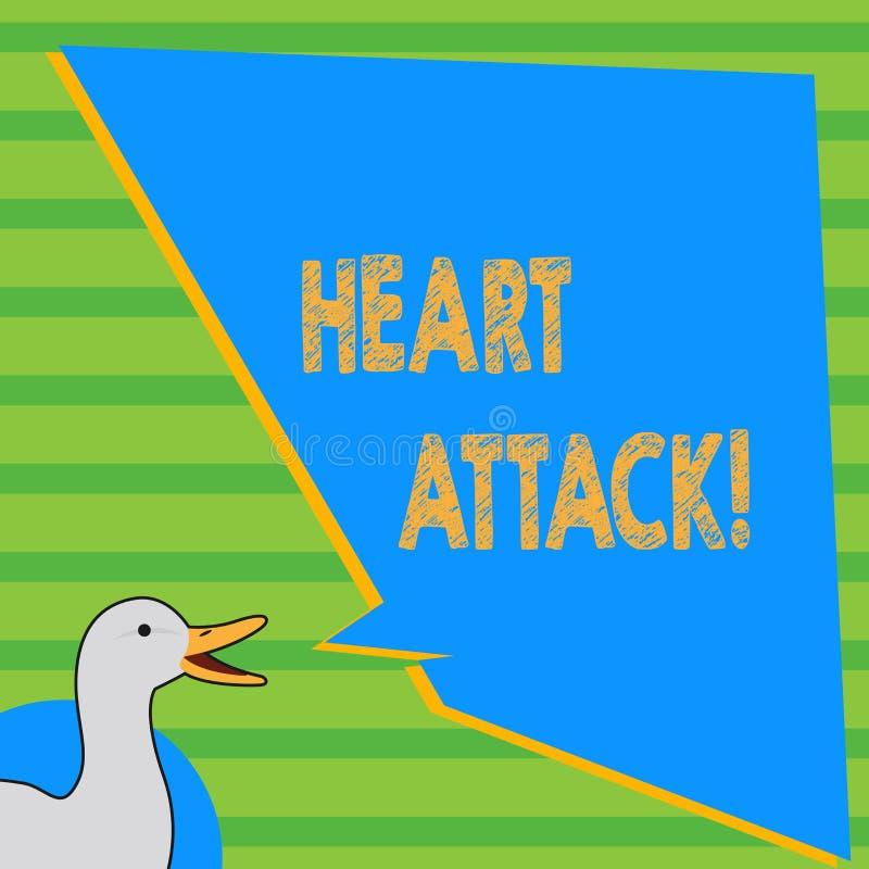 Pisać nutowym pokazuje atak serca Biznesowa fotografia pokazuje nagłego występowanie wieńcowy zakrzepica wynikający w śmierci royalty ilustracja