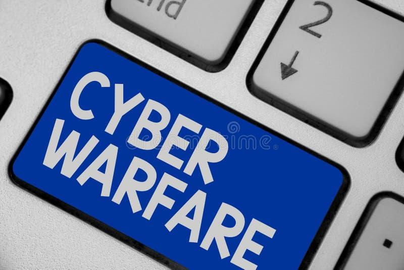 Pisać nutowym pokazuje Cyber działania wojenne Biznesowa fotografia pokazuje Wirtualnego Wojennego hackera system Atakuje Cyfrowe zdjęcia royalty free