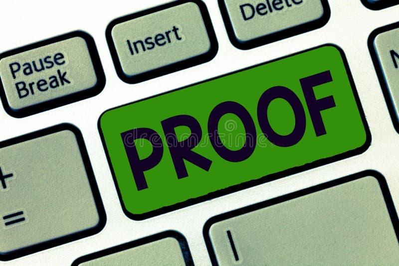 Pisać nutowym pokazuje dowodzie Biznesowa fotografia pokazuje dowód lub argument ustanawia fact lub prawdę oświadczenie fotografia stock
