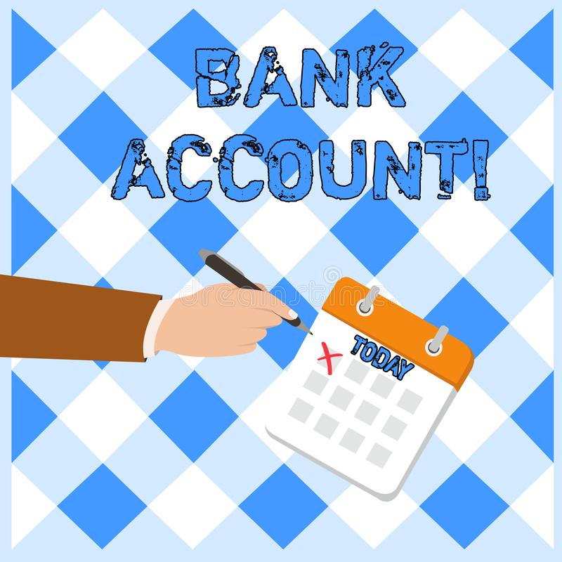 Pisać nutowym pokazuje koncie bankowe Biznesowy fotografii pokazywać Reprezentuje fundusze który powierzał klient ilustracji