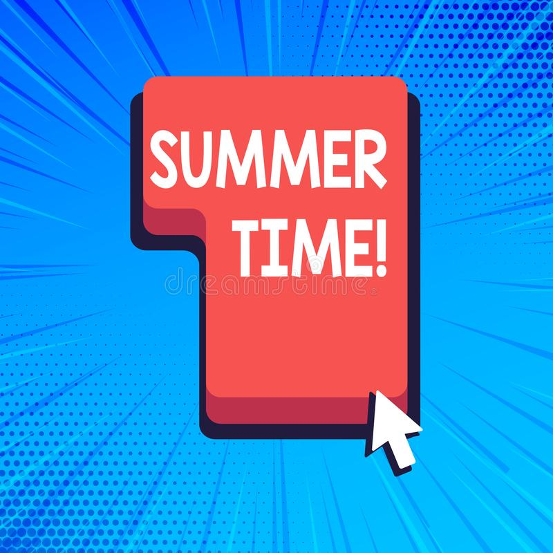 Pisać nutowym pokazuje lato czasie Biznesowy fotografii pokazywać dokonuje długą wieczór światła dziennego lata położenia zegarów royalty ilustracja
