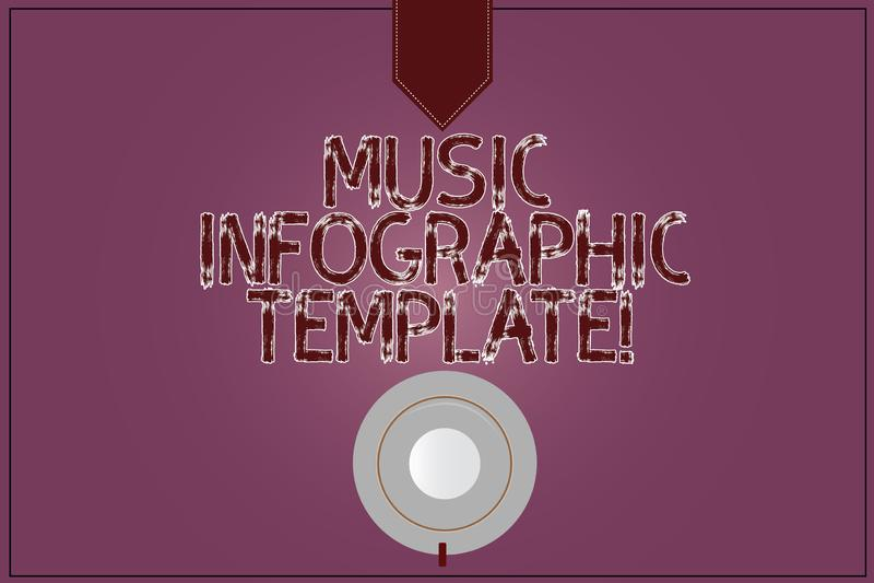 Pisać nutowym pokazuje Muzycznym Infographic szablonie Biznesowa fotografia pokazuje przedstawicielstwa informacja w grafice royalty ilustracja