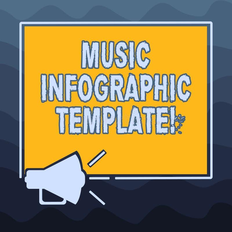 Pisać nutowym pokazuje Muzycznym Infographic szablonie Biznesowa fotografia pokazuje przedstawicielstwa informacja w grafice ilustracji