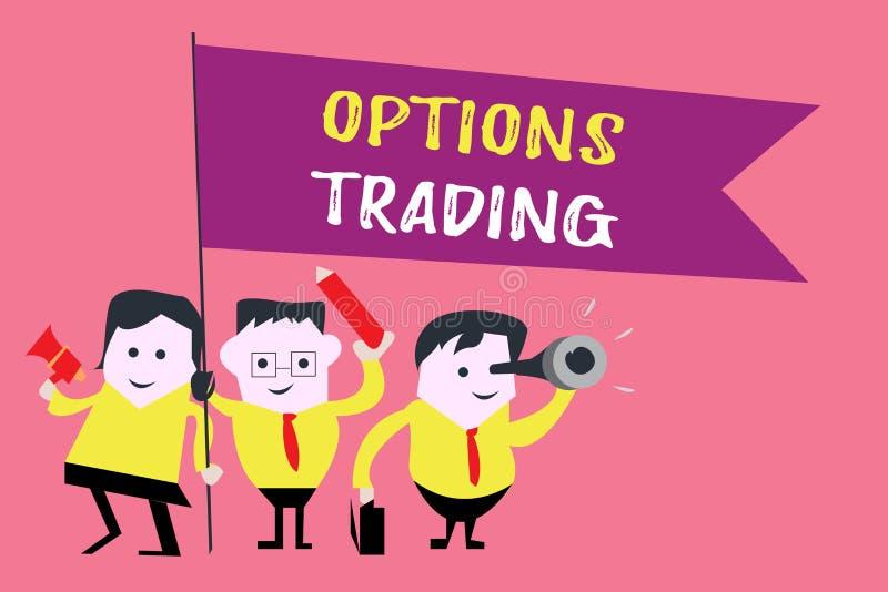 Pisać nutowym pokazuje opcja handlu Biznesowa fotografia pokazuje Różne opcje robić towarom lub usługa sprea ilustracji