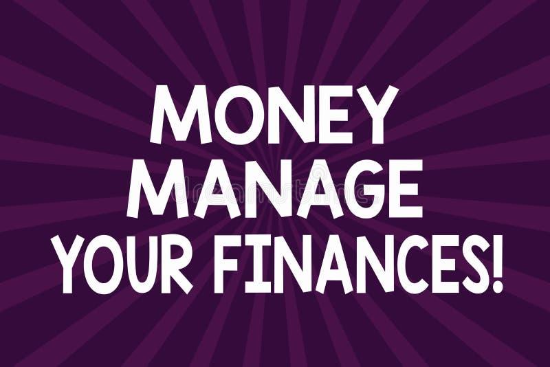 Pisać nutowym pokazuje pieniądze Kieruje Twój finanse Biznesowy fotografii pokazywać Robi dobremu użytkowi twój przychody Inwestu ilustracja wektor