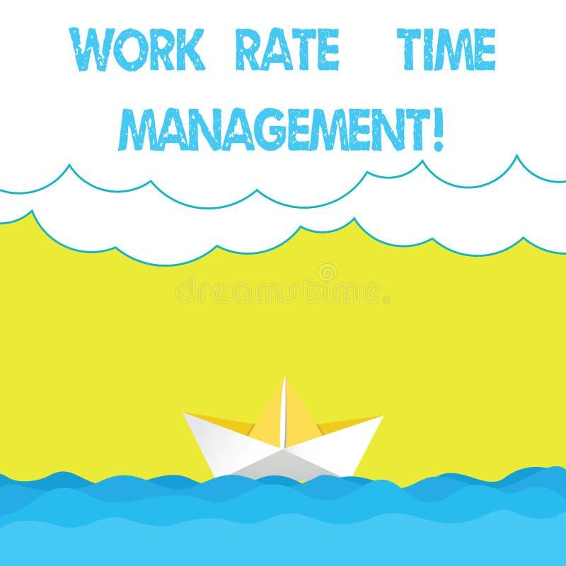 Pisać nutowym pokazuje pracy tempa czasu zarządzaniu Biznesowa fotografia pokazuje Kierujący rozkłady i pracy planowania plany royalty ilustracja