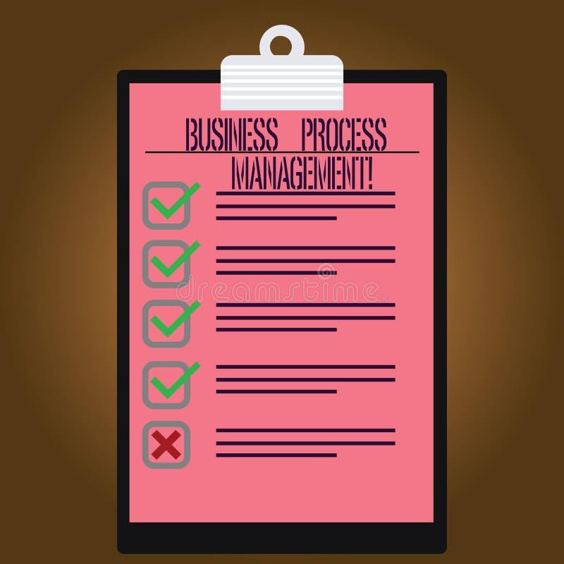 Pisać nutowym pokazuje rozwój biznesu zarządzaniu Biznesowa fotografia pokazuje dyscyplinę ulepszać rozwój biznesu royalty ilustracja