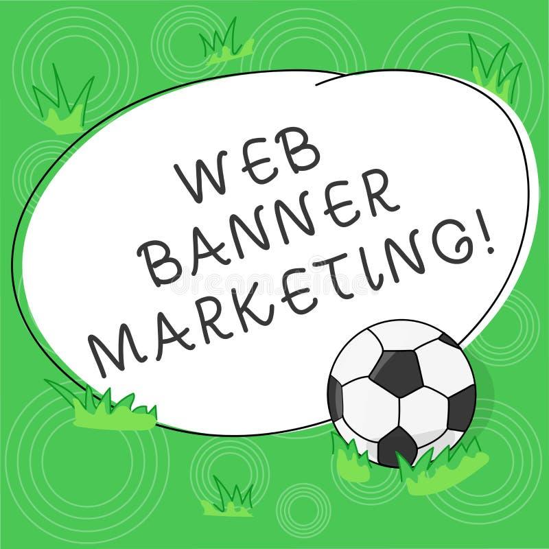 Pisać nutowym pokazuje sieć sztandaru marketingu Biznesowy fotografii pokazywać powoduje osadzać reklamę w stronie internetowej ilustracji