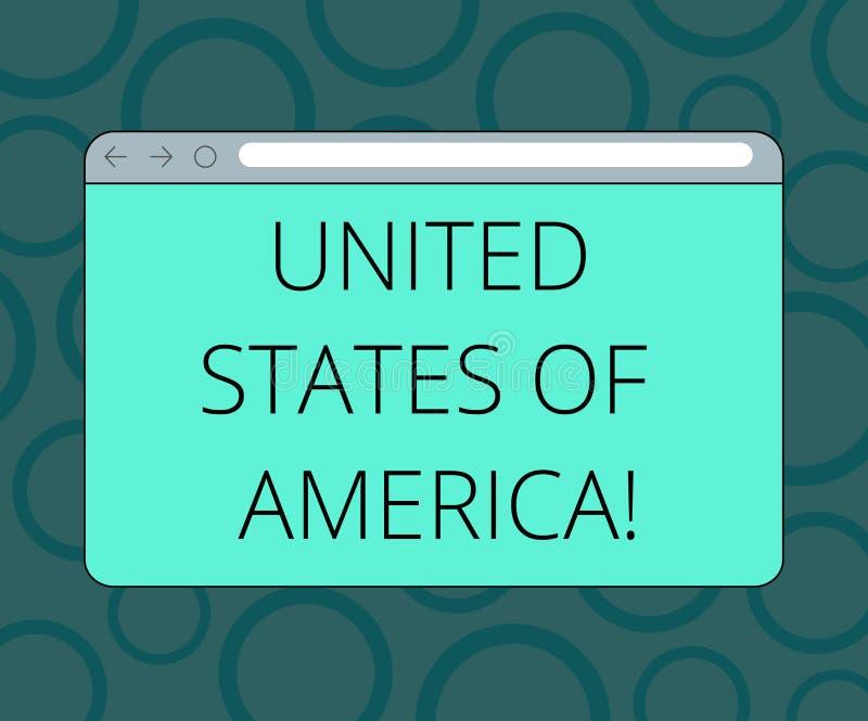Pisać nutowym pokazuje Stany Zjednoczone Ameryka Biznesowa fotografia pokazuje kraju w północny Kapitałowy washington dc ilustracja wektor