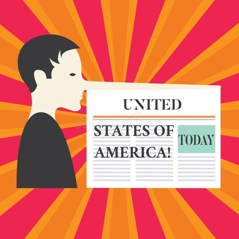 Pisać nutowym pokazuje Stany Zjednoczone Ameryka Biznesowa fotografia pokazuje kraju w północnym Kapitałowym washington dc mężczy royalty ilustracja