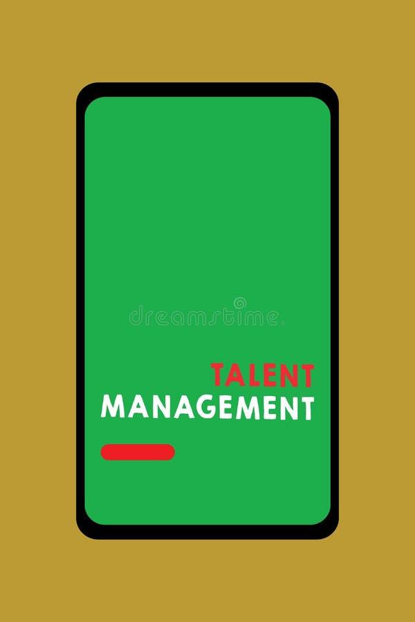 Pisać nutowym pokazuje talentu zarządzaniu Biznesowa fotografia pokazuje nabywanie zatrudnia utalentowanych pracowników i utrzymu ilustracji